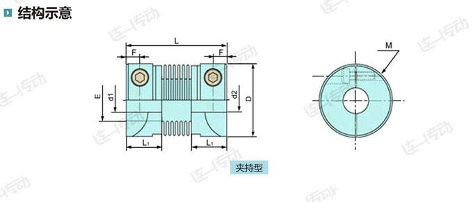 波纹管伺服联轴器结构示意