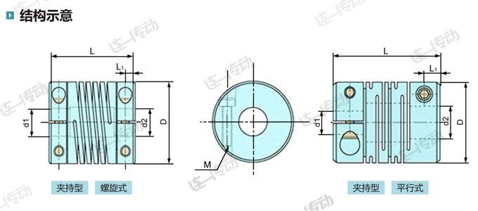 金属弹性联轴器结构示意
