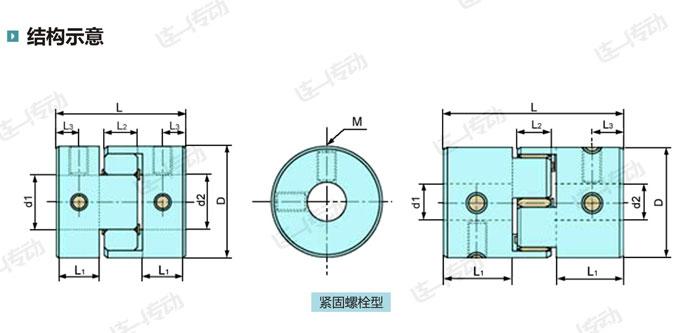 梅花型联轴器结构示意