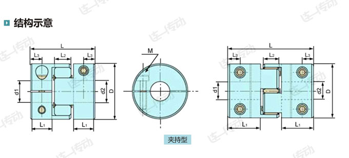 梅花形弹性联轴器结构示意